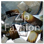 zip fashion raw shell shell components